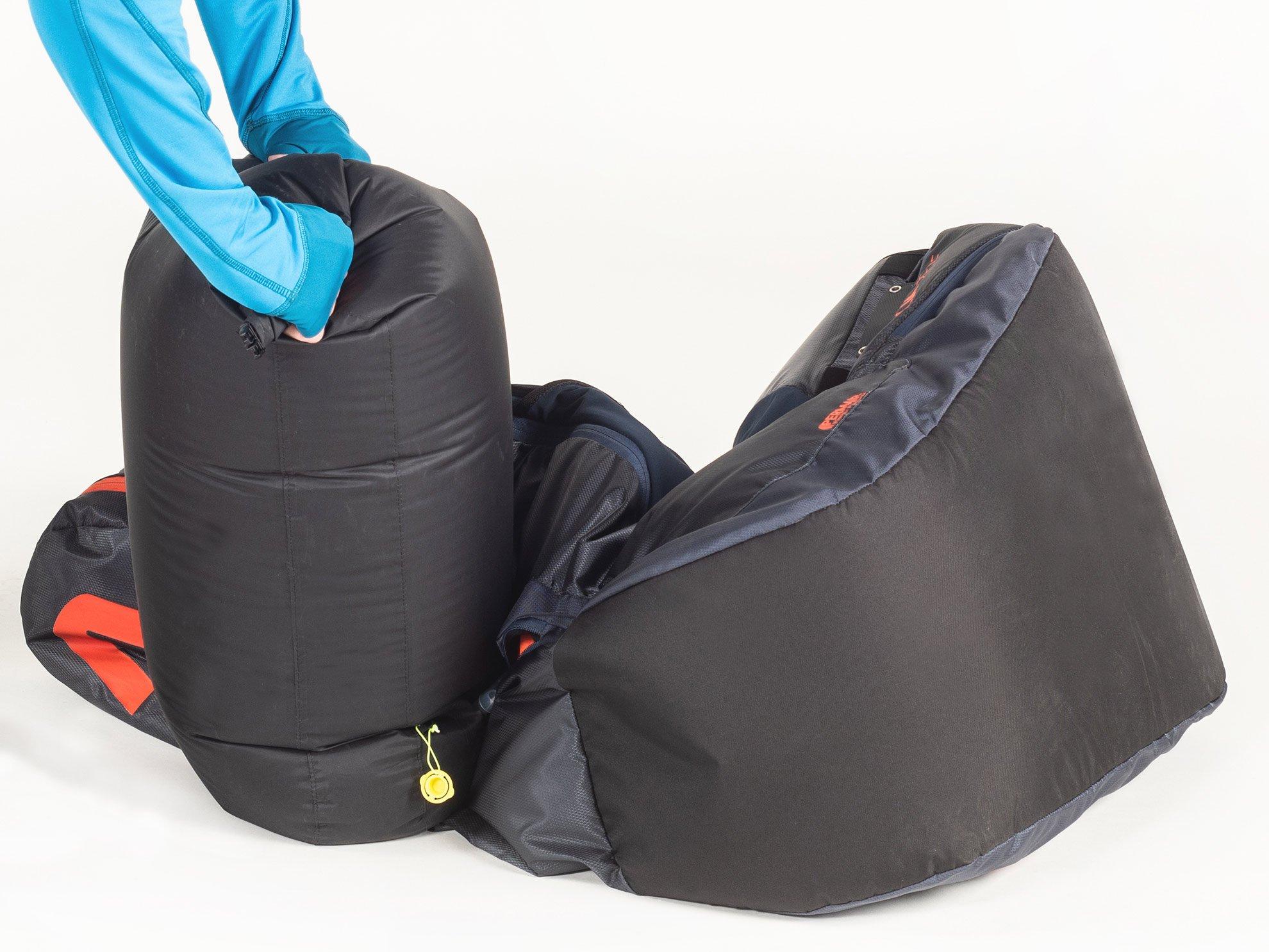 Gurtzeug Check Aircontrol und Sichtkontrolle des Airbags